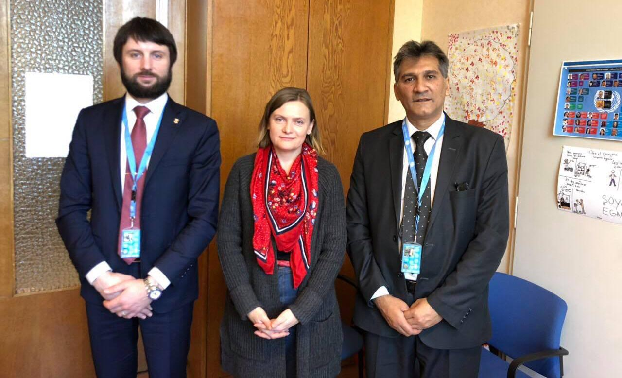 "Zoran Dimov and Anatoly Butakov at the UN headquarters in Geneva: ""IRU and UN strengthen mutual co-operation"""